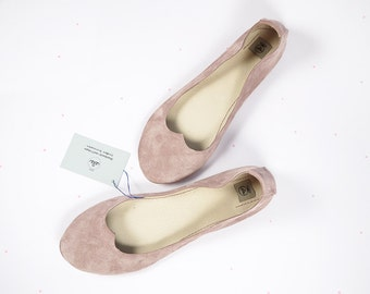 Love Old Pink Romatic Handmade Ballet Flats