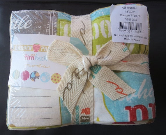 Moda Garden Project - Fat Quarter Bundle - Shipping Special This Weekend 3.99 ( For U.S Orders Only)