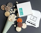Vegan popcorn kit - popcorn kernels and popcorn seasonings set, vegan gift gluten free, movie night treat, popcorn bag,  unique hostess gift