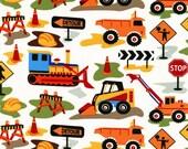 Dig It  cx3761 - Construction Vehicles - Michael Miller Fabrics - 1 Yard
