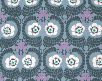 French Twist in Zinc  PWAB141 - VIOLETTE by Amy Butler - Free Spirit Fabric - By the Yard