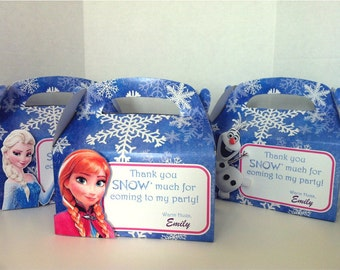 Disney Princess FROZEN Birthday Party Favor Gift Box