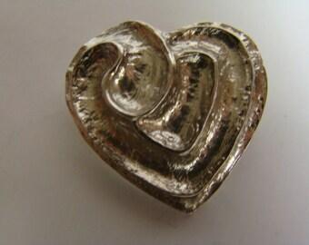 YSL Yves Saint Laurent heart brooch or pendant
