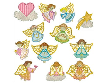 ANGELS 1 - Machine Applique Embroidery - Instant Digital Download