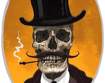 Mister Skullface giclee print