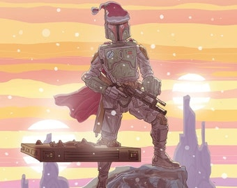 Boba Fett Star Wars Christmas Card