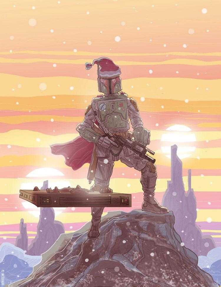 Boba Fett Star Wars Christmas Card