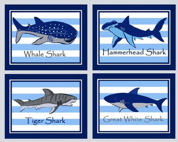 Shark art prints shark bathroom art madras shark art shark for How do sharks use the bathroom
