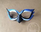 Blue Jay Mask - handmade leather mask