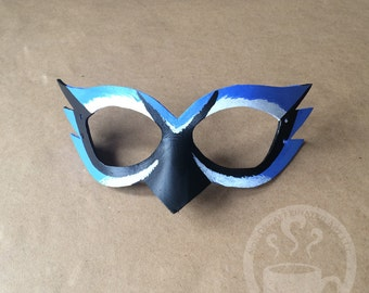 Blue Jay Mask - handmade leather mask