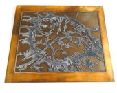 Large Vintage Paris Printing Plate in Copper and Lead Unique and Fascinating