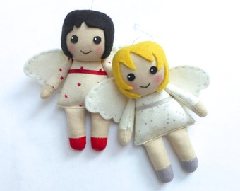 Pattern for cloth angel doll, pattern for Christmas angel decoration