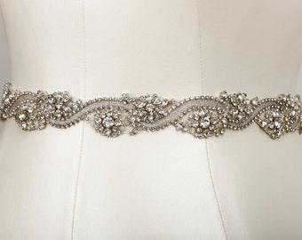 Hannah Crystal Bridal Belt as seen in D Weddings