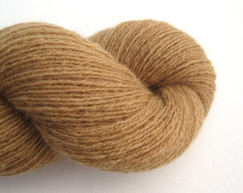 Wool Camel Blend Recycled Yarn in Caramel, Camel Blend Yarn, Recycled Camel Yarn, 540 Yards, Heavy Lace Weight, Lot 021214