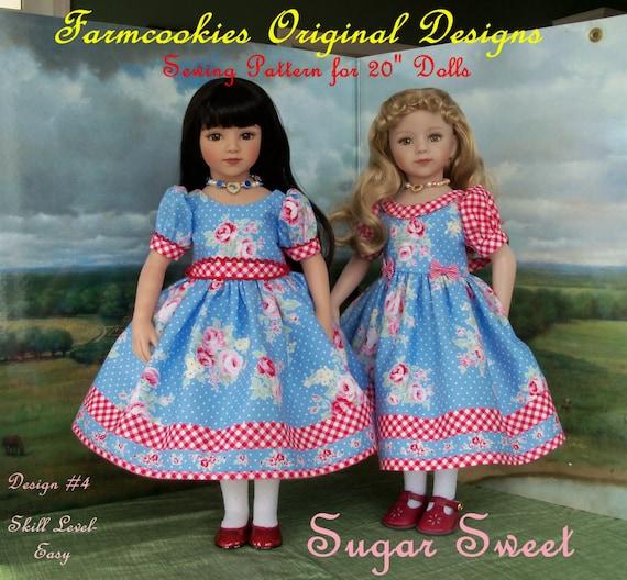 PRINTED Sewing Pattern / SUGAR SWEET for American Girl or Maru & Friends Dolls