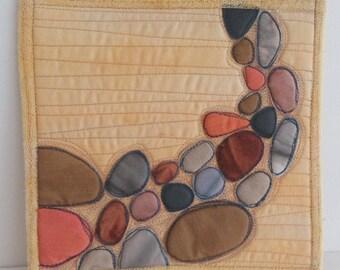 Quilt Pattern for Mini Art Quilts -  Pebble Shore