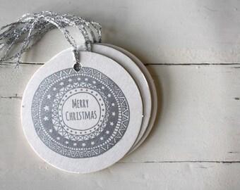 Christmas Gift Tags Letterpress