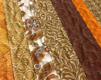 Quilted Autumn Harvest Table Runner,  Fall Table Runner, Thanksgiving Table Topper,  Quiltsy Handmade