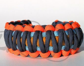 Oklahoma City Thunder OKC Inspired 550 Paracord Survival Strap Bracelet Anklet with Plastic Side Release Buckle