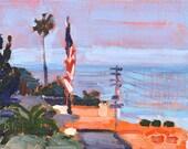 Over Ocean Beach, San Diego Landscape Painting