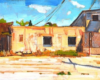 Alley, North Park- San Diego Landscape Painting
