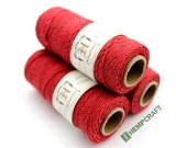 Hemp Twine, Red  -  Scarlet Red High Quality 1mm Colored Hemp Cord