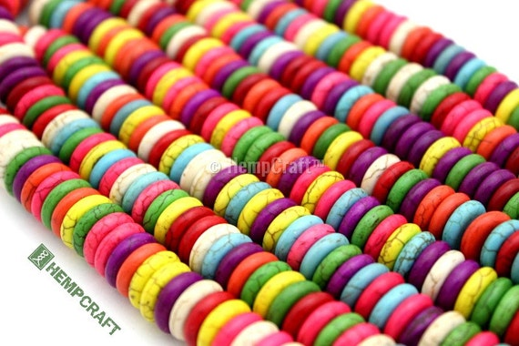 Flat Disc Beads, Multicolor Howlite Round Spacer Beads, 12mm - 50pc