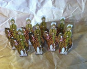 1930s Marx Toy Soldier Targets 8 US Cavalry Troops
