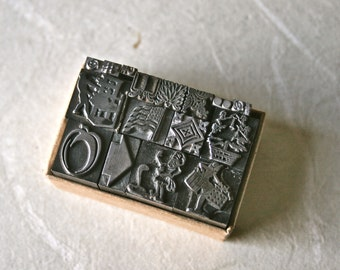 Vintage Letterpress Type Dingbats or Ornaments for Stamping Printing and Decor