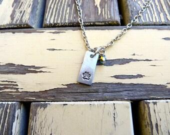 Teeny Tiny, Isty Bitsy, Paw Print Necklace