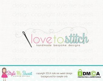 sewing logo seamstress logo fabric shop logo applique shop logo graphic design premade logo design business logo design bespoke logo design