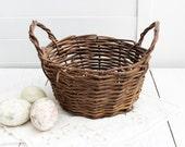 Two-Handled Vintage Basket, Rustic Home Decor