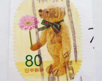 Japanese Kawaii Used Stamps.Perfect for scrapbooking.Xtra Rare