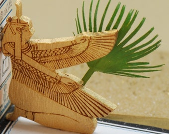 Set of 2 Egyptian Maat Goddesses, 1:12 Scale, Dollhouse Miniatures