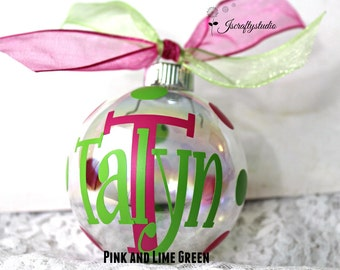 Custom Christmas Ornaments - Christmas Ornament - Personalized Ornaments - Gift Idea for women - Monogrammed ornaments -