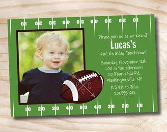 FOOTBALL BIRTHDAY Party Invitation 1st 2nd 3rd birthday DIY, Printable