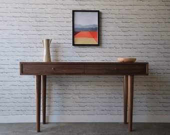 Solid Walnut Console Table