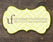 PRINTED Invitation of Your Choice- set of 10, including envelopes
