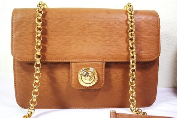 white chloe handbag - Vintage CHLOE Pawn Epi Leather Brown Sling Chain by Vintages727