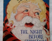 "Vintage ""The Night Before Christmas"" 1937 Book"