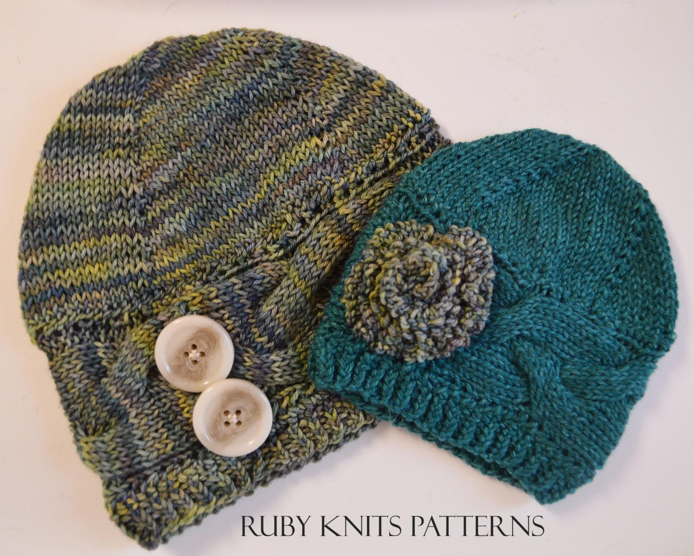 Braided Brim Hat PDF Knitting Pattern by loverubyknits on Etsy
