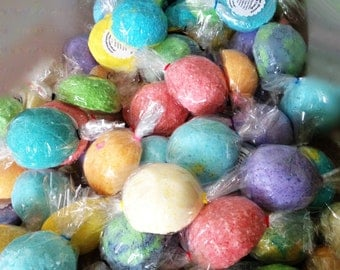 10 BATH BOMBS! - Assorted Box of Bath Candy - or - Customize with Labels - Variety Pack - Fizz Party Favor Gift Idea - Easter Valentine's