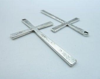 10pcs 36x60mm Antique Silver Cross Charms Pendant C3339