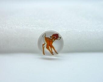 10pcs 12mm Round Handmade Photo Glass Cabochons  (Deer)  GB1-44