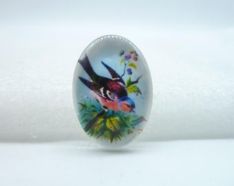 4pcs 18x25mm Handmade Photo Glass Cabochons  (Bird) GA5-23