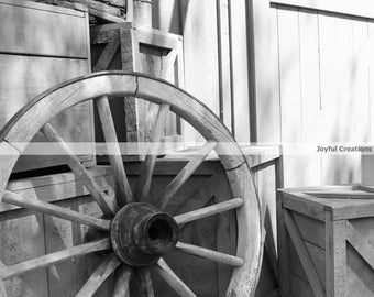 Photography Print... Old Western Wagon Wheel