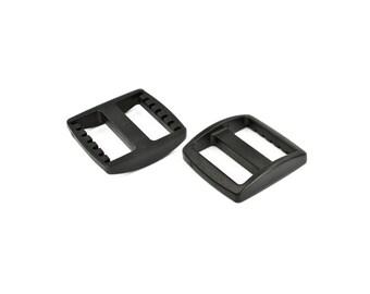 "Wide-Mouth Triglides / Adjusters / Three Bar Slides, 1"" (25mm) Plastic."