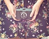 Vintage Camera Art, Girl Print, Female Art, Diana Camera Print, Girly Wall Art, Female Portrait, Pretty Art, Camera Art Print, Self Portrait