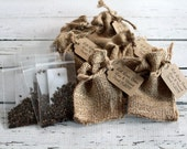 Burlap WILD SUNFLOWER Seed Sack - Personalized