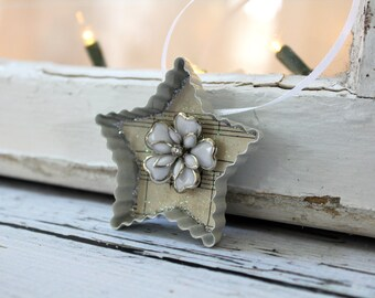 Vintage Cookie Cutter Holiday Ornament - Star